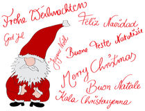 多语种的christmascard 免版税图库摄影