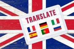 多语种翻译 库存照片