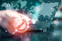 多途径网上营业通讯网络数字式techn 免版税库存图片