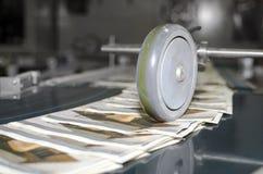 多重图的过程在一个现代印刷厂里 免版税库存照片