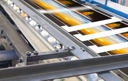 多重图的过程在印刷厂里 免版税图库摄影