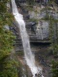 多重瀑布在贾斯珀国家公园 免版税库存图片
