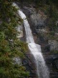多重瀑布在贾斯珀国家公园 免版税库存照片