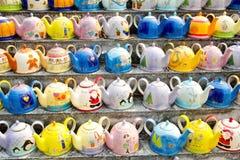多陶瓷的颜色 库存照片
