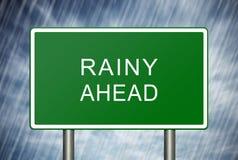 多雨向前 免版税库存图片