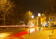 多雨夜在Baden-Baden 库存图片