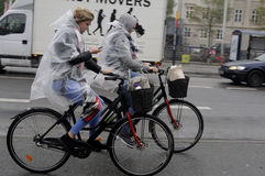 多雨天气在哥本哈根 免版税库存照片