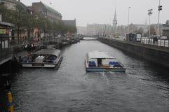 多雨天气在哥本哈根 库存图片