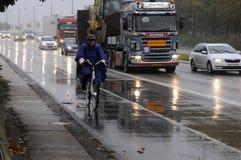 多雨天气在哥本哈根 图库摄影