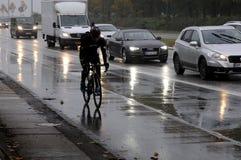 多雨天气在哥本哈根 库存照片