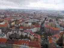 多雨布拉格 免版税库存图片