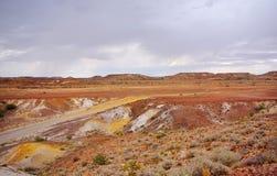 多雨彩绘沙漠 免版税图库摄影