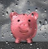多雨日的资金 免版税图库摄影