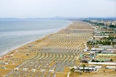 多雨海滩的日 库存图片