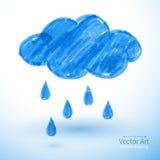 多雨的云彩 皇族释放例证