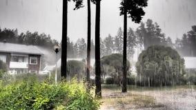 多雨的日 免版税图库摄影