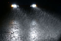 多雨的晚上 免版税库存图片