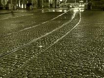 多雨的晚上 免版税图库摄影