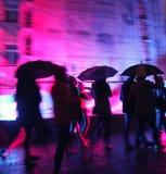 多雨的晚上 免版税库存照片