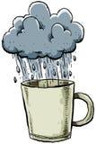 多雨的杯子 皇族释放例证