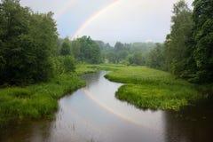 多雨的横向 库存图片