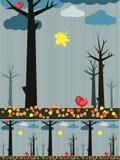 多雨秋天的横向 免版税库存照片