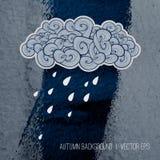 多雨背景的日 秋天季节设计 免版税库存图片