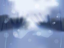 多雨视窗 免版税图库摄影