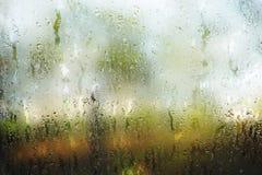 多雨视窗 图库摄影