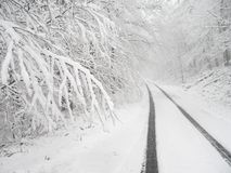 多雪国家(地区)的运输路线 免版税库存照片