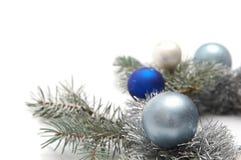 多雪圣诞节的装饰 免版税库存图片
