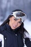 多雪户外的秀丽 库存图片
