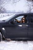 多雪户外的秀丽 免版税库存图片