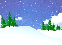 多雪的几天 免版税库存图片