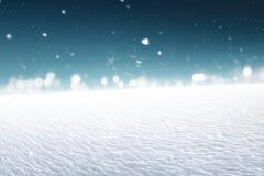 多雪的土地的图象 免版税库存图片