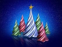 多雪的圣诞节 免版税库存照片