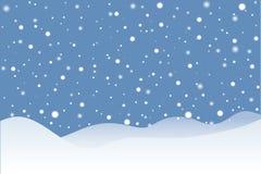 多雪的场面 向量例证
