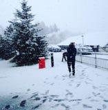 多雪的天 免版税库存照片