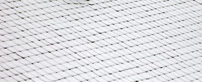 多雪的屋顶 库存图片
