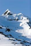 多雪的山 图库摄影