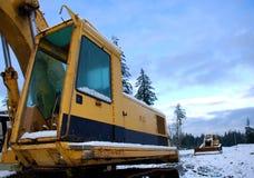 多雪的建造场所 库存图片