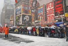 多雪的方形时期等待 免版税库存照片