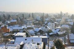 多雪的日 库存图片