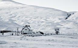 多雪的横向 库存照片