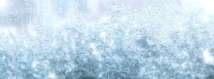 冻多雪的窗口 图库摄影