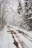 多雪的路 图库摄影