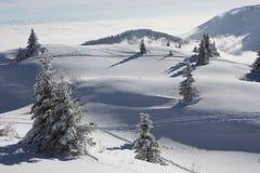 多雪的montains 库存照片