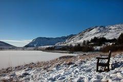 多雪的snowdonia 库存图片
