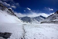 多雪盖子喜马拉雅的范围 免版税图库摄影