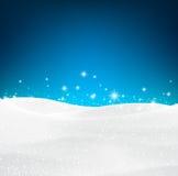 多雪背景的圣诞节 免版税库存图片